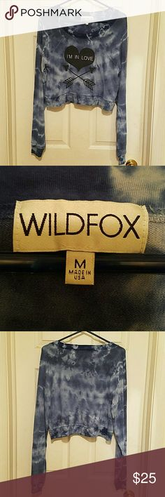 [Wildfox] I'm In Love Crop Jumper My favorite color mixture that wildfox does. This one is in good used condition, normal pilling. This one is an older piece so the bbj material is a lot thinner than newer pieces and its very light. Size medium, true to size. Offers welcome! Wildfox Tops Sweatshirts & Hoodies