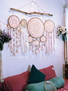 Excited to share this item from my shop: Dream catchers, Pink dream catcher wall hanging, large dreamcatcher Dream Catcher Pink, Dream Catcher Bedroom, Dream Catcher Decor, Doily Dream Catchers, Large Dream Catcher, Boho Diy, Bohemian Decor, Modern Bohemian, Bohemian Style