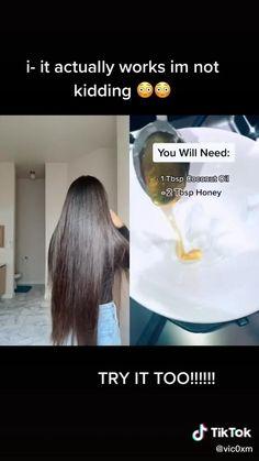 Hair Growing Tips, Grow Hair, Diy Hair Treatment, Curly Hair Tutorial, Hair Mask For Growth, Beauty Tips For Glowing Skin, Diy Hair Mask, Healthy Hair Tips, Natural Hair Styles