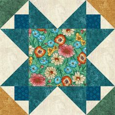 This Star Quilt Block Offers Lots of Patchwork to Play With Colors: Make a Variation of the Evening Star Quilt Block ~ Often called Variable Star