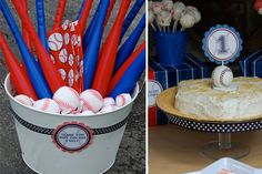 Baseball or sports party favors via lilblueboo.com