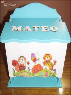 Pañalera para varón Baby Shawer, Baby Birth, Kit Bebe, Ideas Para, Toy Chest, Storage Chest, Shower, Box, Decoupage Ideas