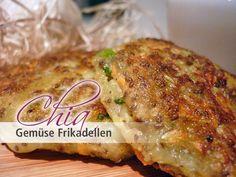 Frikadelle mal anders! Die vegetarische Chia Gemüse Frikadelle liefert wertvolles Eiweiß auch ohne Fleisch, dank Chia!