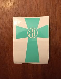 Cross decal Personalized decal