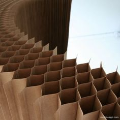 photos from molo design\'s presentation at the 2008 milan design week. Cardboard Design, Diy Cardboard, Cultural Architecture, Architecture Details, Architecture Texture, Roof Architecture, Smart Furniture, Furniture Design, Karton Design