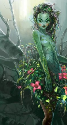 "Elves Faeries Gnomes: #Sprite ~ ""Sylvari Summer,"" by Jamie Jang."