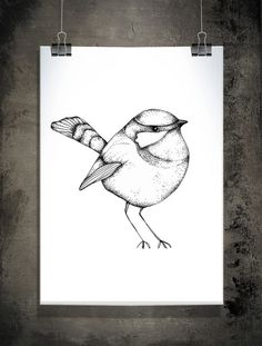 One little birdie  print A4 210x297 mm by SofieRolfsdotter on Etsy, $23.00