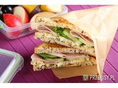 Kanapka klubowa do szkoły Sandwiches, Breakfast, Recipes, Food, School, Cooking Recipes, Kochen, Breakfast Cafe, Rezepte