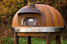Perfection! -- Corten steel wood fired oven by Maine Wood Heat Co.