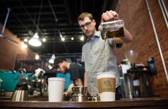 The boom in coffee shops is starting to hurt business owners. Above, inside 21st Street...