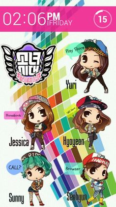 Homescreen Design Contest Entry 남 영 석 @남 영 | My Homepack SNSD_chibipack