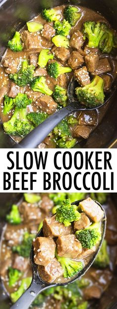 This quick and easy slow cooker BEEF AND BROCCOLI recipe requires 5 minutes of prep time. This crockpot beef broccoli is made with simple ingredients and tastes better than Chinese take out. It's a super easy weeknight meal and a very simple crockpot recipe/ slow cooker recipe! From cakewhiz.com