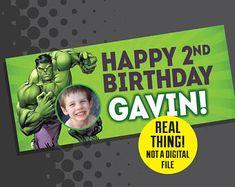 Hulk Birthday - Hulk Birthday Banner with Photo