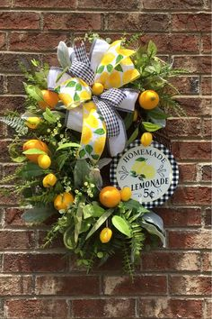 Easter Tree, Easter Wreaths, Mesh Wreaths, Lemonade Sign, Lemon Wreath, Spring Home Decor, Spring Decorations, Spring Crafts, Decorating For Spring