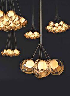 Bocci's Glass Pendant lamps.