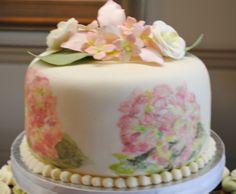 hydranga cakes   Painted Hydrangea Cake