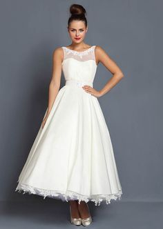 Short, Tea Length and 1950's Inspired Wedding Dresses by Cutting Edge Brides in the UK. http://www.cuttingedgebrides.com/
