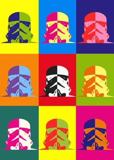 Buy Star Wars Canvas Art Prints and Buy Stormtrooper & Darth Vader Split Panel Wall Prints Australia from our online Art Gallery. Star Wars Fan Art, Casa Pop, Cuadros Star Wars, Pop Art Images, Star Wars Painting, Pop Art Design, Graphic Design, Modern Art Paintings, Star Wars Poster
