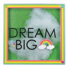 Dream Big 8x8 Shadowbox - Click through for project instructions.
