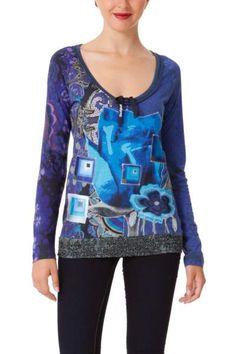 Camiseta Dolly azul Desigual 865a4a6bbe5