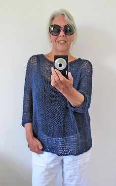Ravelry: Summer Cotton Tee Sweater pattern by Audrey Wilson