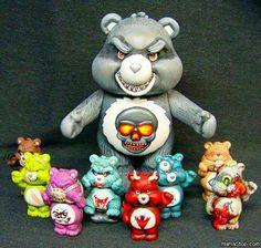 Zombie Care Bears!! Love it.