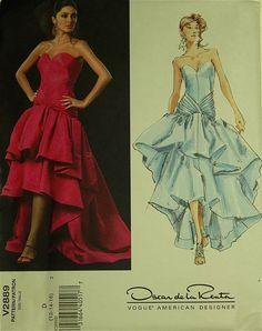 Dress Draped Bodice by Oscar de la Renta  by patterntreasury