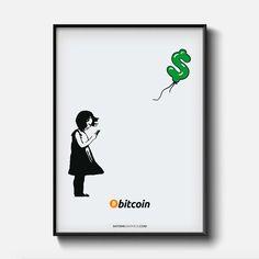 Girl With Bitcoin Print