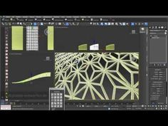 Grid structures 02: grid structures built out of 2D surfaces and 3D objects in 3ds max - YouTube