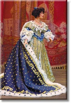 Queen Marie Therese Sculptured Doll | The famous French Queen. (M&M Gallery)