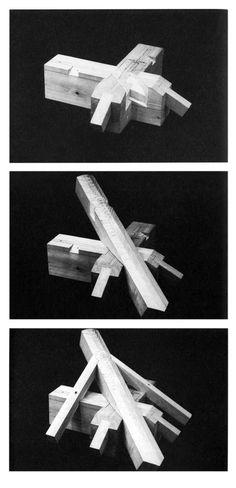 """En Detalle: Especial / Los ensambles de madera en la arquitectura japonesa tradicional,Empalme de múltiples clavijas. """"Yosemune no sumi"""". Image Courtesy of Torashichi Sumiyoshi y Gengo Matsui"""