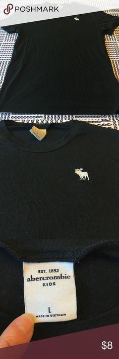 Black Abercrombie t shirt Black Abercrombie t shirt size large 12-14 boys. Smoke free home abercrombie kids Shirts & Tops Tees - Short Sleeve