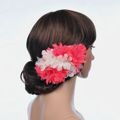 Remedios Two Tone Tulle Flower Hair Clip, Watermelon and Beige Wedding Accessory -- Find out more about the great product at the image link.