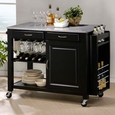 Add counter space and concealed storage to any kitchen in style.