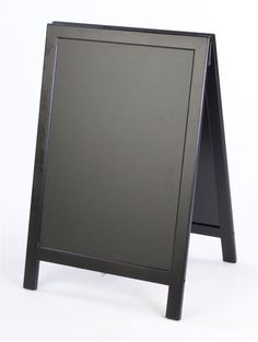 18 x 26 A-frame Chalkboard, Black Wet Erase Surface, Double Sided - Black