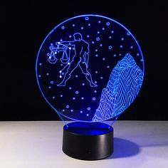 Fairy Tail Lucy Libra Zodiac 3D Table Lamp LED Light Acrylic Decorative Lantern #Unbranded