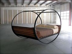 This might be a nice porch bed. I would however, add a sheet tied canopy and install the rubber stoppers !