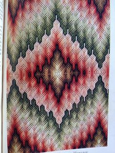 French Color: Rose, bargello needlepoint, hungarianpoint Oh the things you can do when you simply turn the design around. With Bargello patterns you can have as many as four joining points.