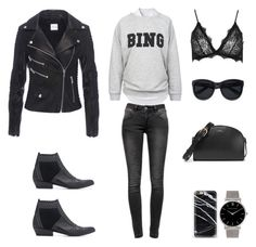 """""""Bing"""" by fashionlandscape ❤ liked on Polyvore featuring Anine Bing, Band of Outsiders, A.P.C., Casetify, Larsson & Jennings, women's clothing, women's fashion, women, female and woman"""