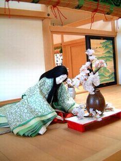 【京都・風俗博物館~よみがえる源氏物語の世界~】 2002年2月撮影 平安時代の遊び・貴族の生活 - 晴れのち平安