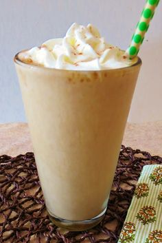 Gingerbread Frappe Coffee. Only 69 calories of yum!