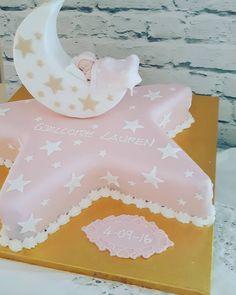 A star shaped cake for Lauren's Christening. #christeningcake #christeninggift…