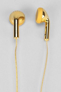 Gold gilded ear buds from Urban Outfitters.