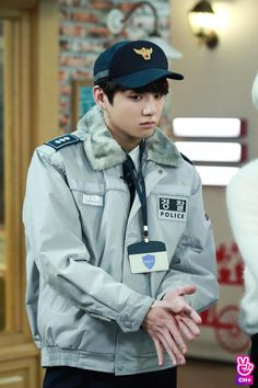 He's so adorable in the police outfit!!! Aaaaaa I'm overwhelmed!!! He's definitely the cause of my euphoria
