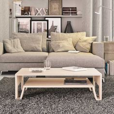 Mesa Centro MC20 / Felipe Arriagada Love Seat, Couch, Throw Pillows, Bed, Instagram, Furniture, Coffee Tables, Design, Home Decor