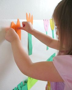 """""""sticky wall"""" mural idea - could go along with Maybe Something Beautiful by F. Isabel Campoy"""