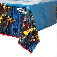 """Unique Transformers Plastic Tablecloth, 84"""" x 54"""" Unique http://www.amazon.com/dp/B00K49UCTQ/ref=cm_sw_r_pi_dp_CyCrxb0TZYZYB"""