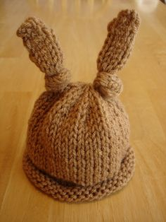 Fiber Flux...Adventures in Stitching: Free Knitting Pattern! Baby Bunny Newborn or Preemie Hat