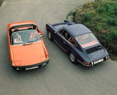Porsche 914 and Porsche 911 E