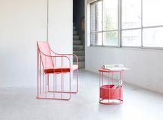 satoshi umeno colors intricately woven furniture series in pastel tones